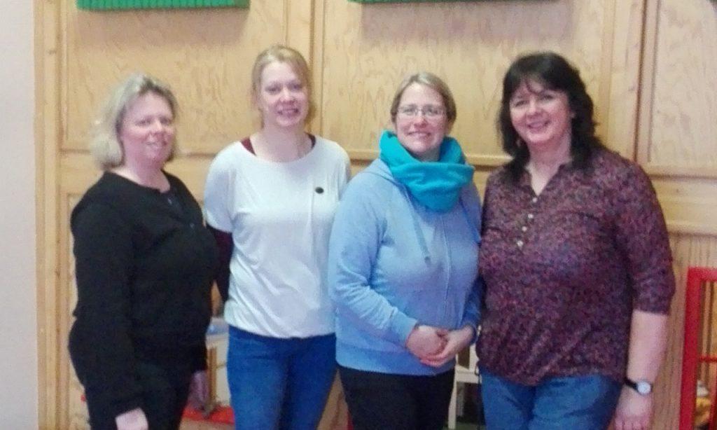 Das Kindergarten-Team in Bingen Gaulsheim (v.l. Michaela Holling, Lucie Würl, Sonia Navigato, Doro  Marx)